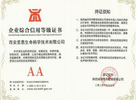 企业综合信用等级证书-AA
